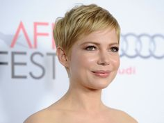 Michelle Williams. Total transformation with short hair.