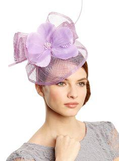 Lilac Flower Quill Ruffle Fascinator - occasionwear - Women - BHS