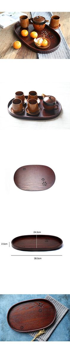 Japan Style Hollow Wooden Tea Trays Home Organizer Storage Trays Large Creative Decorative Serving Tray Wood Fruit Tray Dishes