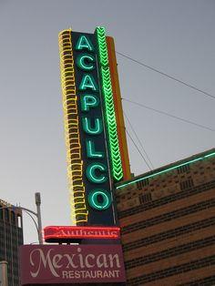 Acapulco Mexican Restaurant Sign Amarillo TX