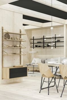 Tapio Anttila Collection - Ideat Shelf System, Chair Design, Sweet Home, Shelves, Dining, Interior Design, Studio, Bed, Furniture