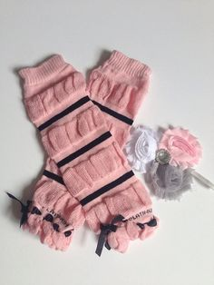 Sale deal of the day leg warmer SET baby headband by LBbowtique1