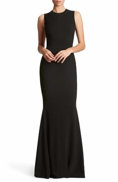 Main Image - Dress the Population Eve Crepe Mermaid Gown