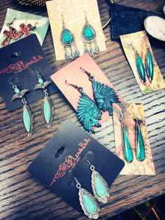 Turquoise earrings…. Call our store today for yours - 620.796.2355