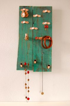 Pallet and Pipe Jewelry Holder