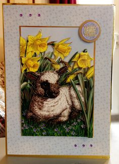 "(9) Easter Card - A5 from Hunkydory ""The First Signs of Spring"" Collection - Decolarge"