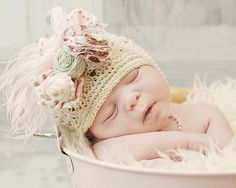 Janelle's Enchanted Closet — Shabby Chic hat for baby/toddler
