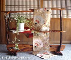 着物帯のディスプレー 飾り棚 Home Interior Design, Interior Architecture, Interior And Exterior, Oriental Decor, The Bell Jar, Japanese Textiles, Asian Decor, Decoration, My Dream Home