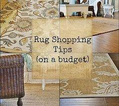 10 DIY Home Decor Tricks: Rug Shopping Tips (on a budget)