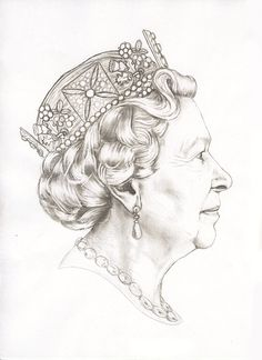 Initial sketch of the Fifth Royal Portrait by Jody Clark.   http://www.royalmint.com/Features/The-Fourth-and-Fifth-Definitive-Coinage-Portrait