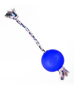 Another great find on #zulily! Dark Blue Rope & Ball Pet Toy #zulilyfinds