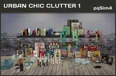 Urban Chic Clutter 1 by Mary Jiménez at pqSims4 via Sims 4 Updates
