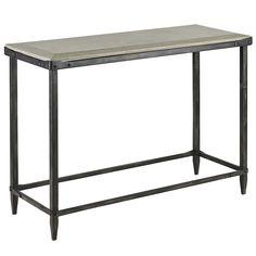 Iron and Concrete Console Table | BelleEscape.com