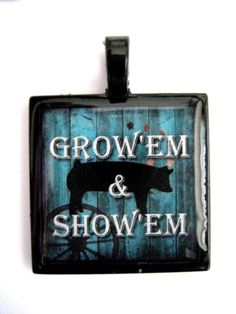 SHOW PIG JEWELRY PENDANT by hopthefence on Etsy, $12.99