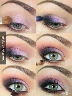 Mystisches Augen-Makeup für grüne Augen