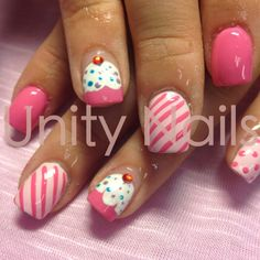 #Cupcakes #birthday #nails #nailart Sweet nails