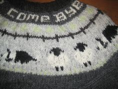 Close up of the border collie and sheep pattern ...