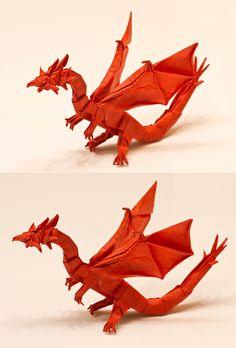 Origami Darkness Dragon 20 Tutorial Tadashi Mori Youtube Chanel