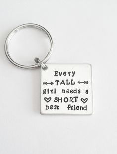 Short and Tall Best Friend's Keychain or Necklace - http://www.funhunter.com/short-and-tall-best-friends-keychain-or-necklace.html
