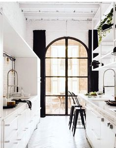 Gorgeous kitchen! That arched window tho... ❤️❤️❤️❤️