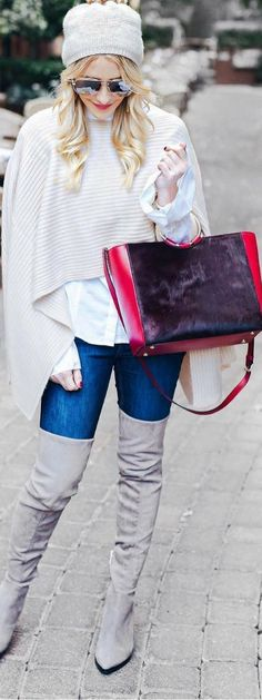 These winter outfits are THE BEST! They're awesome for women for work, to wear casually, and they're super cute. Plus, they'll help you stay warm and cozy during the cold. Saving this for sure! #winter #fashion