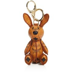 Mcm Rabbit Visetos Bag Charm ($240) ❤ liked on Polyvore featuring jewelry, pendants, cognac, charm pendant, charm jewelry, mcm, rabbit jewelry and rabbit charm