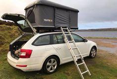 TentBox Car Roof Tent on an Estate / Station Wagon Car Tent, Truck Tent, Car Camper, Camper Caravan, Top Tents, Roof Top Tent, Roof Top Campers, Rooftop Tent Camping, Tenda Camping