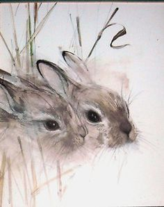 Hares Picture Print by Danish Artist Mads Stage