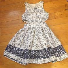 NWT ASOS PETITE FIT/FLARE FLORAL DRESS W/ CUTOUTS ❤️ASOS petite fit and flare dress with cutouts. Size 2 ASOS Dresses