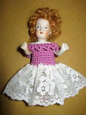 """Antique bisque mignonette doll house doll-marked   -Germany/Limbach  -1890-4 """""""