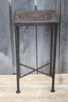 """""""Antique Grate Side Table"""" #40 James McGee Iron Designs"""