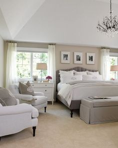 Bedroom Bedroom Bedroom 038 closet White gray and beige master bedroom Neutral bedroom interior design idea Love the warmth nbsp hellip master bedroom neutral Interior, Home, Bedroom Makeover, Home Bedroom, House Interior, Bedroom Inspirations, Remodel Bedroom, Interior Design Bedroom, Master Bedrooms Decor