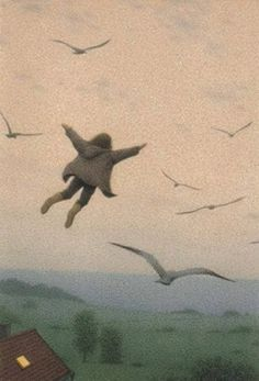 """ausflug Quint Buchholz (German, ~ The Flying Child (from """"Wer das Mondlicht faengt [Who the Moonshine Catches] Aesthetic Art, Aesthetic Pictures, Wow Art, Pics Art, Surreal Art, New Wall, Wall Collage, Art Inspo, Art Drawings"""