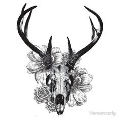 Seriously loving this stag tattoo. Maybe as a big side piece?