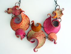 RESERVED for Paola - Polymer clay necklace