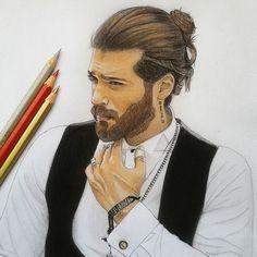 bleistiftzeichnung Yaman - Greetings from fans Cool Art Drawings, Pencil Art Drawings, Beautiful Drawings, Colorful Drawings, Portrait Sketches, Portrait Art, Art Sketches, Pictures To Draw, Art Pictures