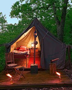 Cozy camping!
