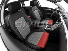 LEATHER LOOK PERFO nimbus + LEATHER LOOK PERFO red Car Seats, Vehicles, Leather, Note, Collection, Motor Car, Artificial Leather, Nice Asses, Safety