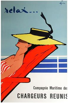 Relax by René Gruau by Letitia Morris French vintage posters, via Flickr