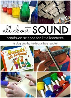 Our school has adopted the Next Generation Science Standards and one of my favorite units in grade is our Sound Unit. NGSS asks that students conduct experiments to explain that vibrations make sounds and sound can make materials vibrate. 1st Grade Science, Primary Science, Kindergarten Science, Elementary Science, Physical Science, Science Classroom, Science For Kids, Elementary Music, Classroom Fun