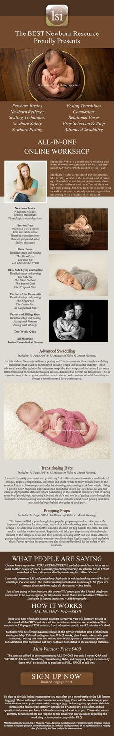 ALL-IN-ONE Online Newborn Workshop with Stephanie Robin Photography at LearnShootInspire...