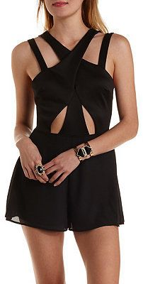 Strappy Crossover Cut-Out Romper