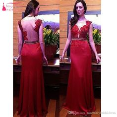 Long Red Prom Dresses V-Neck Sexy Back Evening Dresses Vestido De Festa Mermaid Formal Party Dresses Chiffon With Lace Appliques Long Evening Dress Prom Dress Short Sleeve Mermaid Dress Online with $157.72/Piece on Rosemarybridaldress's Store | DHgate.com