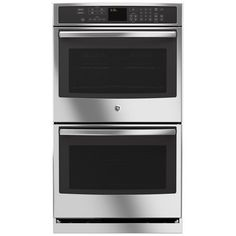 """GE - Profile Series 30"""" Built-In Double Electric Convection Wall Oven - Stainless Steel - Larger Front"""