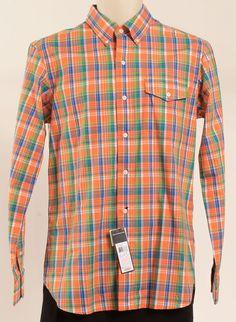 Ralph Lauren Polo Outlet Orange Mens casual Shirt Mens buttun front shirt SZ S #RALPHLAUREN #ButtonFront