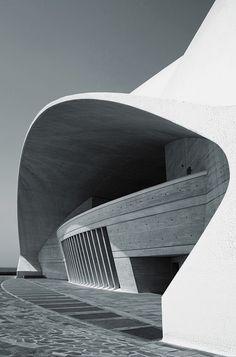 Auditorio de Tenerife by architect Santiago Calatrava.  Photo by José Miguel Hernández Hernández.