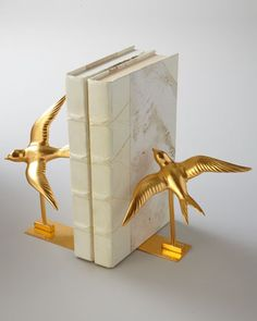 """Swallow"" Bookends by BANCHI at Neiman Marcus."