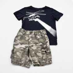 Boys 4/4T Shorts and Shirt- Gently Used- Carters and Old Navy- Click to see the whole lot!
