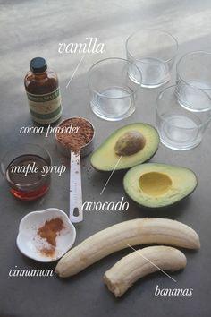 Avocado Banana Chocolate Pudding // shutterbean