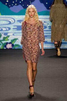 Anna Sui Spring 2014 - scarf dress